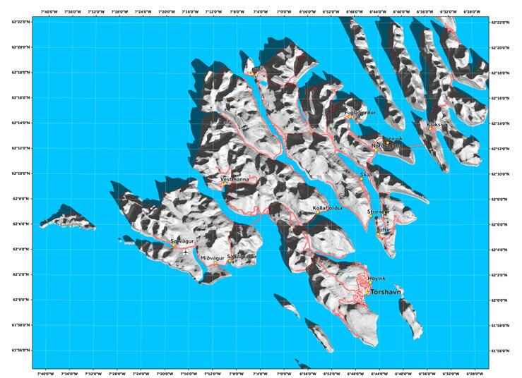 Тени рельефа, Фарерские острова 20 марта 2017 года